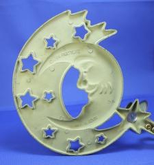 PartyLite Kerzenthalter Mond (grün gold - Faben)